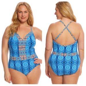 Bleu/Rod Beattie one-piece Mykonos swimsuit